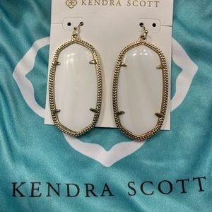 Kendra Scott White Agate Danielle Earrings